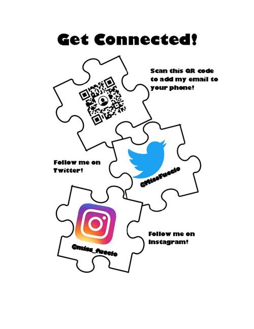 To stay connected in our classroom use the below information!
