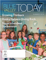 Blue Valley today Summer 2019 cover