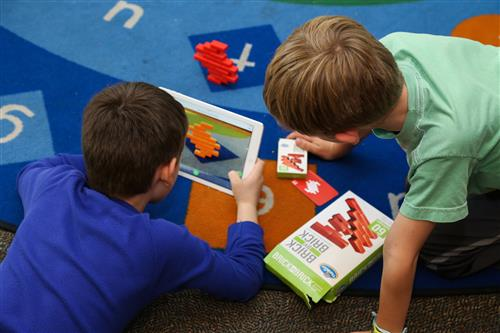 students on an ipad