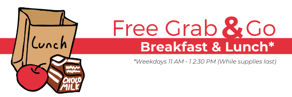 Grab and go breakfast and lunch infographic